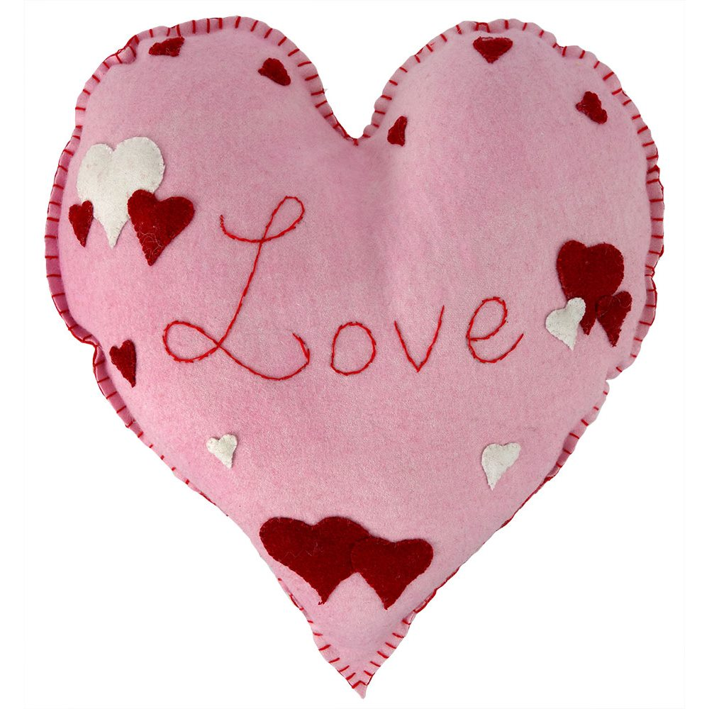 valentine love hearts pillow | traditions