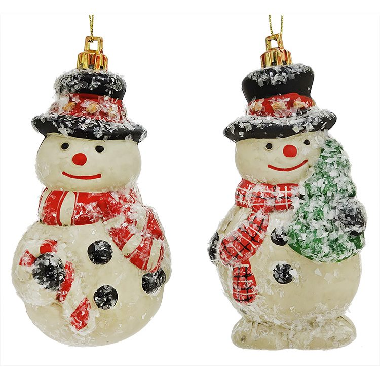 Vintage Style Snowman Ornaments Set/2 | Traditions