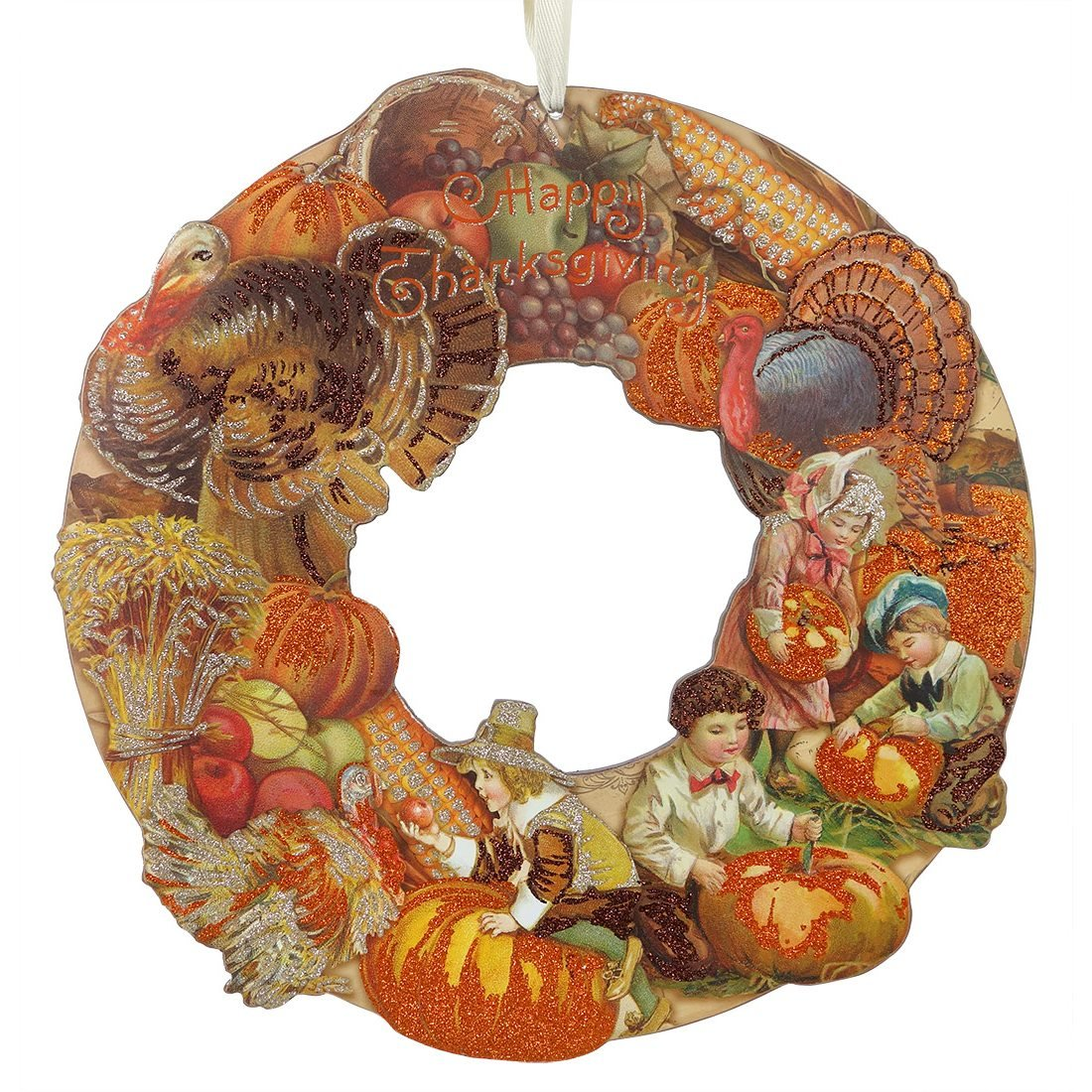 Vintage Image Thanksgiving Wreath By Primitives By Kathy Traditions