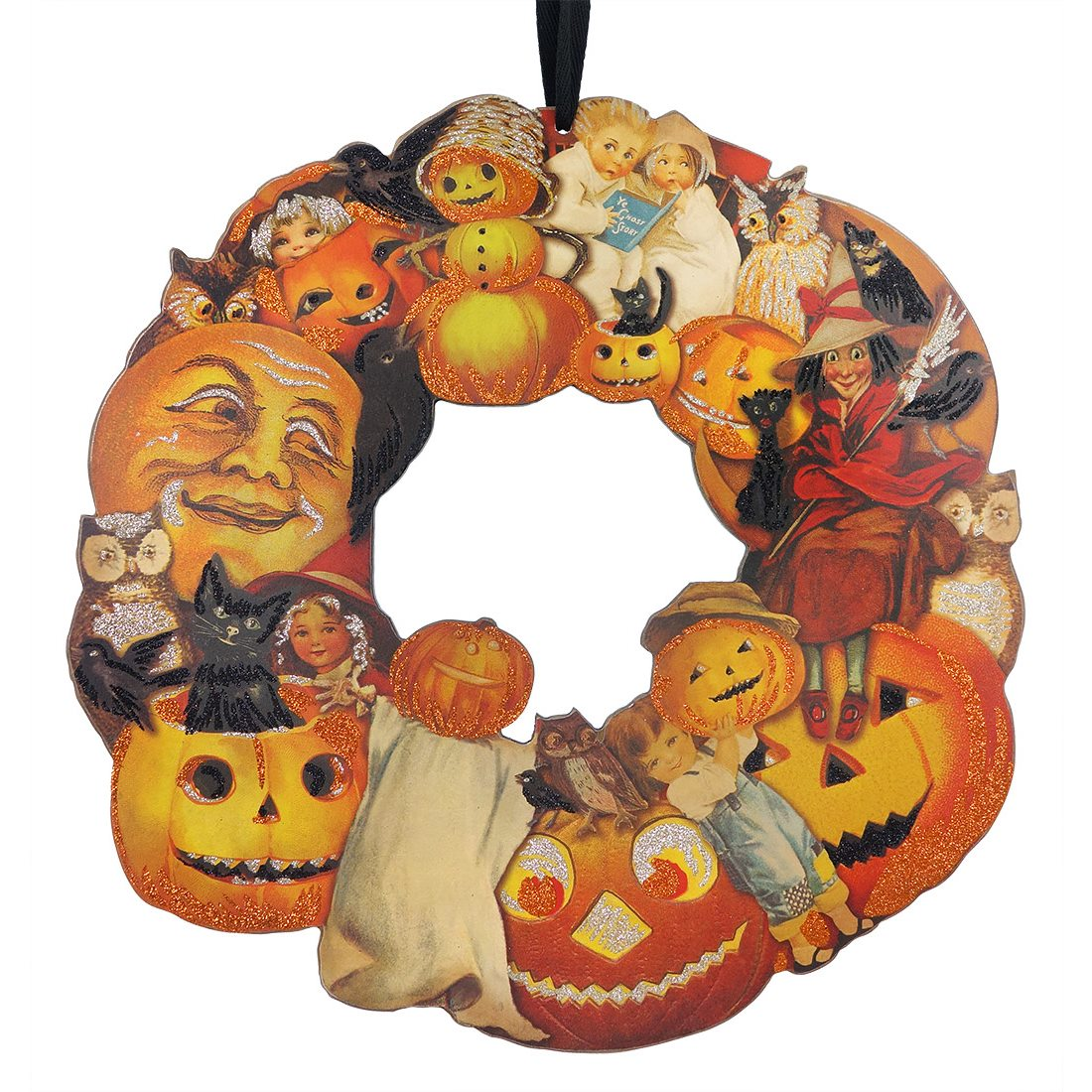 Vintage Image Halloween Wreath By Primitives By Kathy