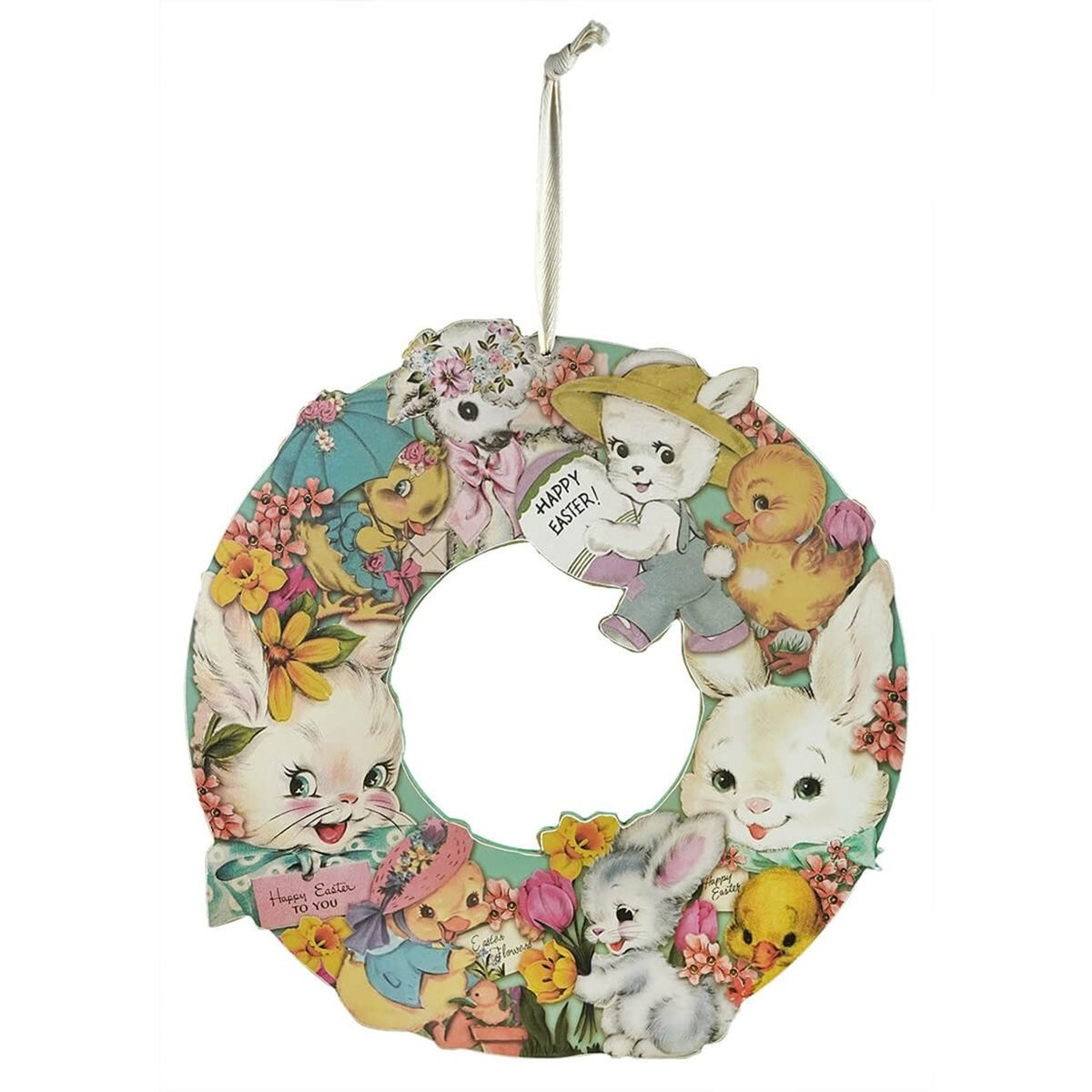 Retro Happy Easter Wreath By Primitives By Kathy Traditions