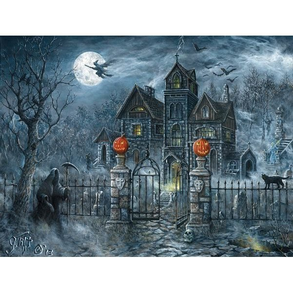 Uninvited Guest Halloween Puzzle By Jeff Tift For Sunsout Puzzles Traditions
