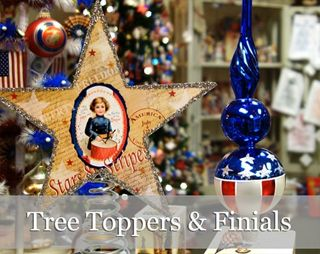 Patriotic Christmas Ornaments.4th Of July Glass Ornaments Patriotic Memorial Day Ornaments