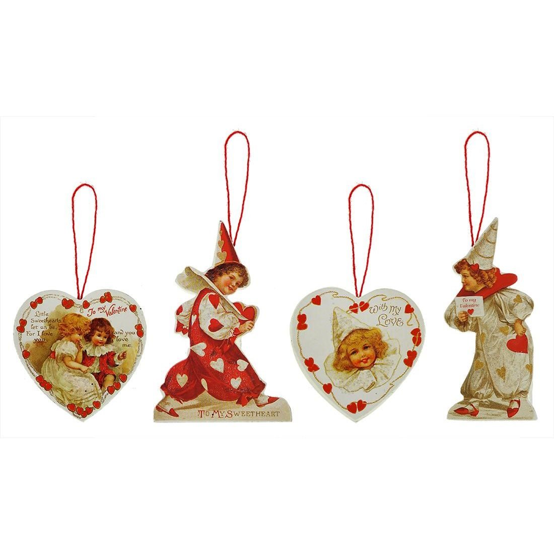 Little Sweetheart Valentine Dummy Board Ornaments Set/4
