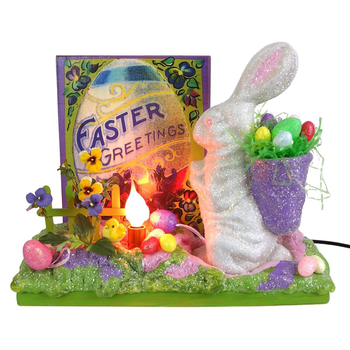 Easter Greetings Display Vignette By Seasons Gone By Traditions