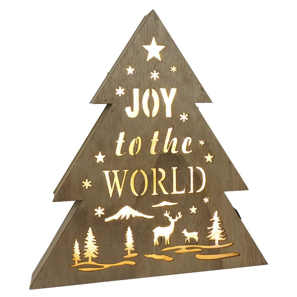joy to the world lighted christmas tree decor