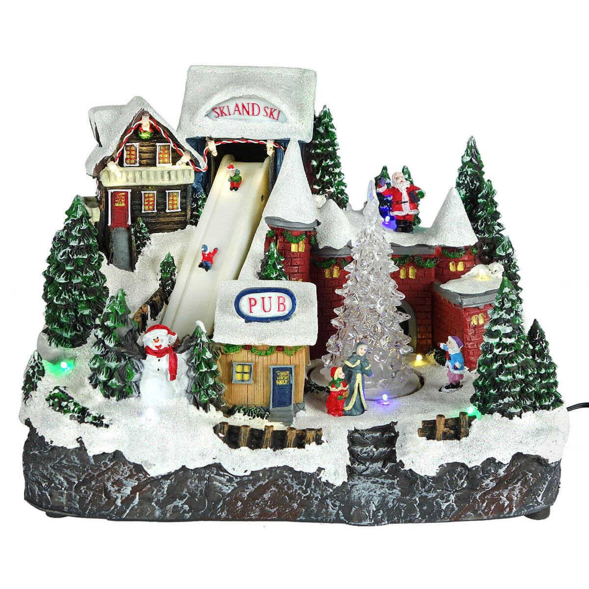 Christmas Village Houses.Lighted Christmas Village Decor
