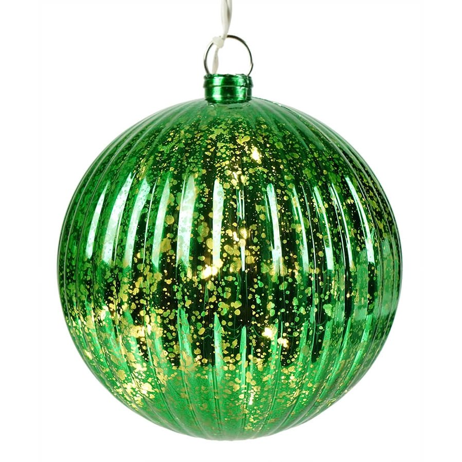 Lighted Green Ball Christmas Ornament Traditions