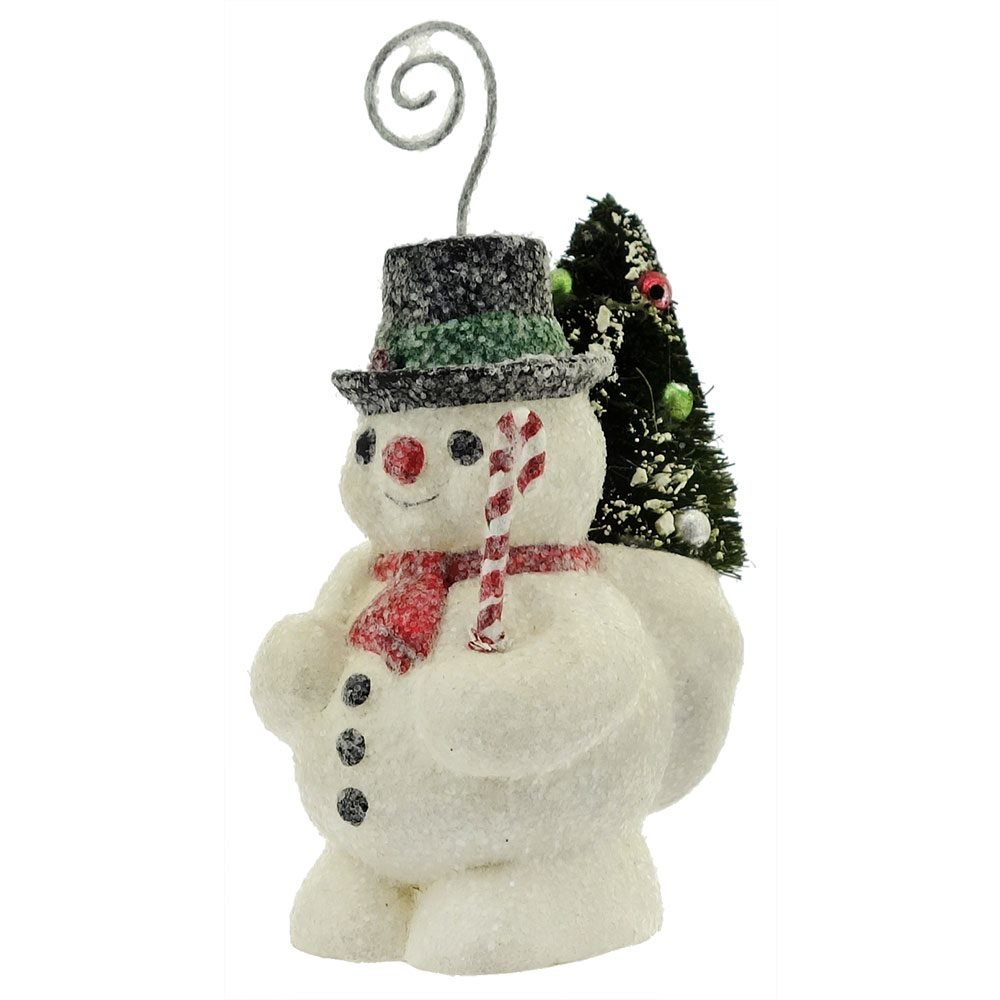 Vintage Snowman Place Card Ornament By Bethany Lowe