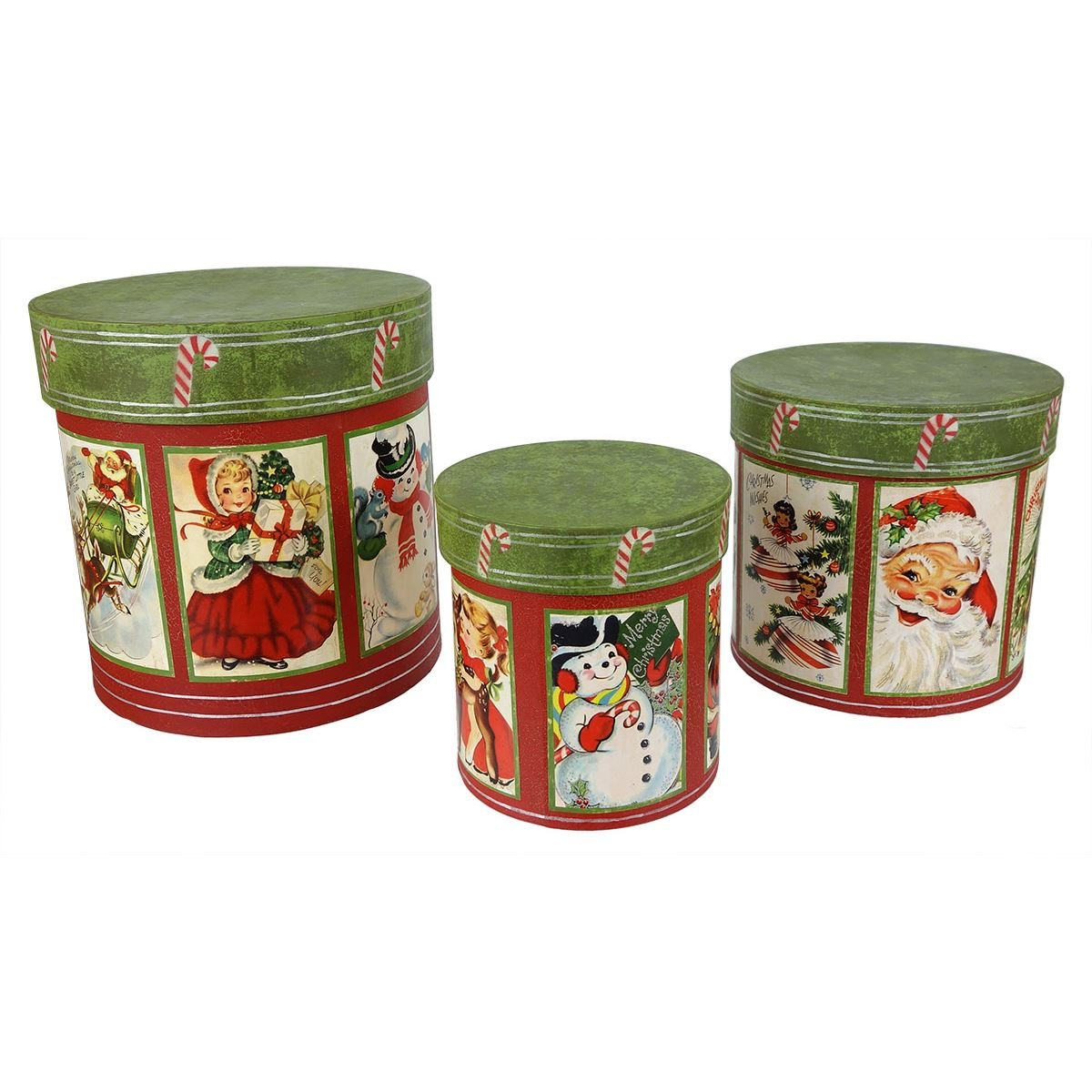 Retro Christmas Nesting Boxes Set/3 by Bethany Lowe | Traditions