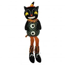 Plush Black Cat Shelf Sitter
