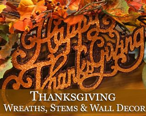 Thanksgiving Hanging Wreaths, Stems & Wall Decor