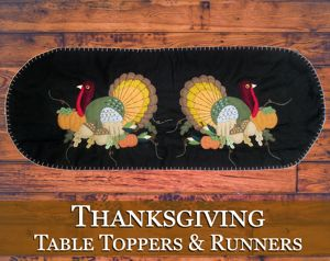 Thanksgiving Table Toppers & Runners