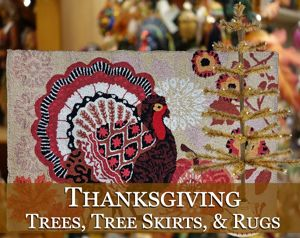 Thanksgiving Trees, Tree Skirts & Rugs