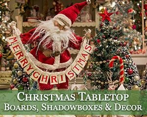 christmas boards shadowboxes tabletop decor - Nostalgic Christmas Decorations