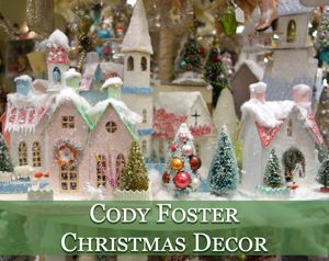 cody foster vintage christmas village houses