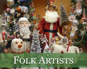 vintage christmas folk art