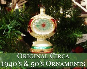 original circa 1940s and 1950s vintage christmas ornaments