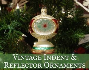 vintage indent reflector ornaments - 1940s Christmas Decorations