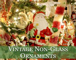 vintage non glass ornaments - 1940s Christmas Decorations