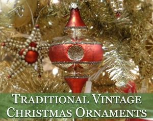 traditional vintage christmas ornaments - Vintage Christmas Decorations 1950s
