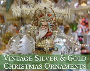 silver gold themed ornaments