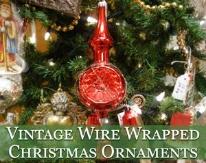 vintage wire wrap tinsel christmas ornaments - Vintage Christmas Decorations 1950s