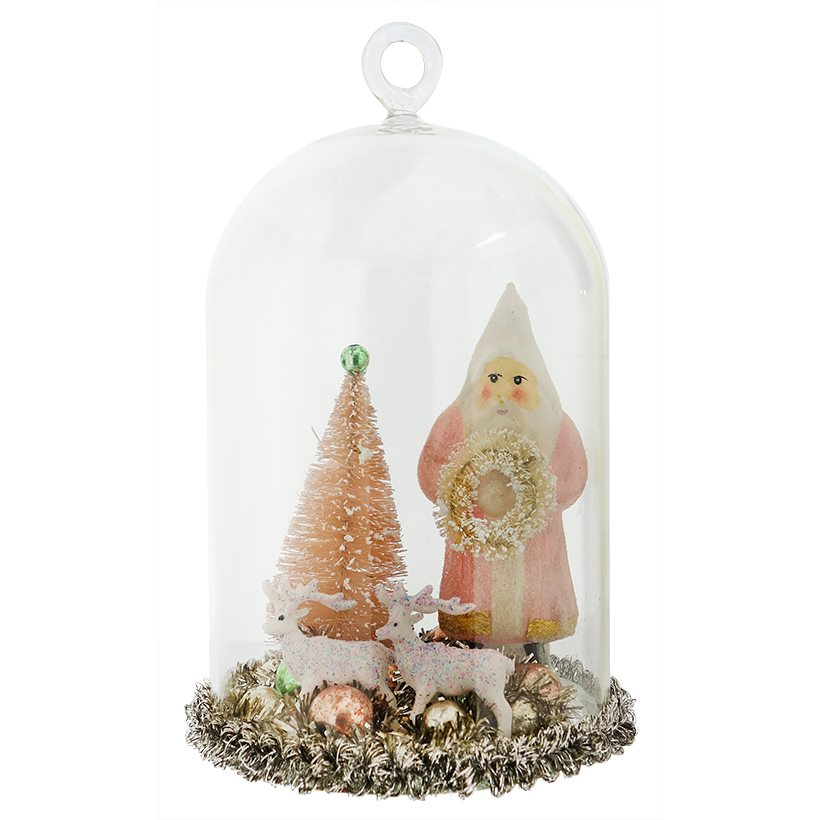 Vintage christmas tabletop decor traditions for Mica decoration cloche